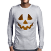 Happy Pumpkin Belly Mens Long Sleeve T-Shirt