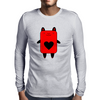 Happy Red Devil Mens Long Sleeve T-Shirt