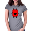 Happy Red Devil Womens Fitted T-Shirt