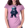 happy skeleton Womens Fitted T-Shirt