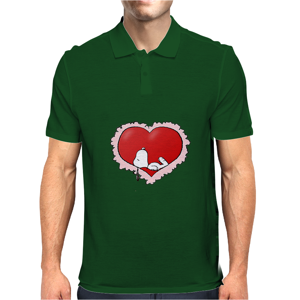 Happy valentine day snoopy Mens Polo