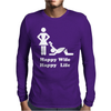 Happy Wife Happy Life Funny Mens Long Sleeve T-Shirt
