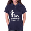 Happy Wife Happy Life Funny Womens Polo