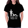 Happy Wife Happy Life Womens Polo