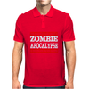 Hardest Part Zombie Apocalypse Mens Polo