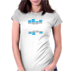 Hardstyle Blue EQ Womens Fitted T-Shirt