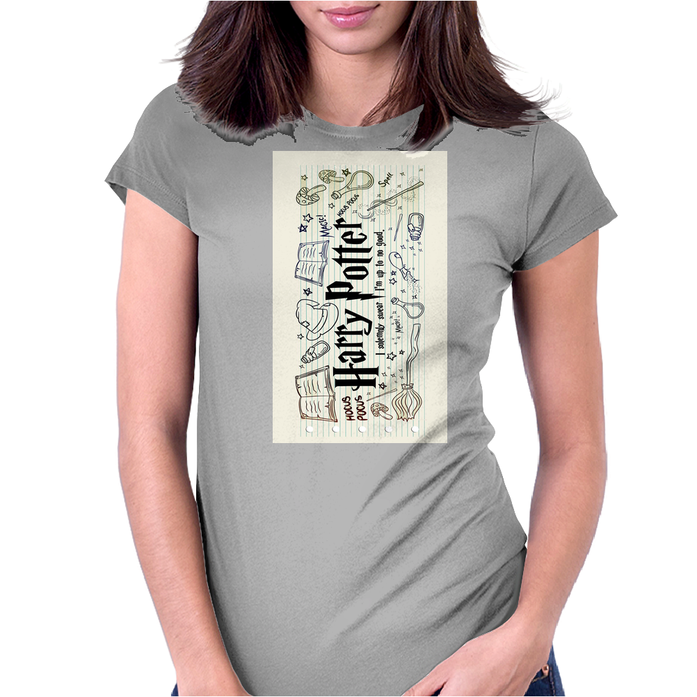 Harry Potter Collage Womens Fitted T-Shirt