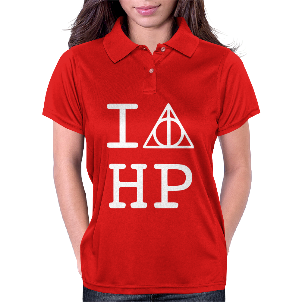 Harry Potter Deathly Hallows Womens Polo