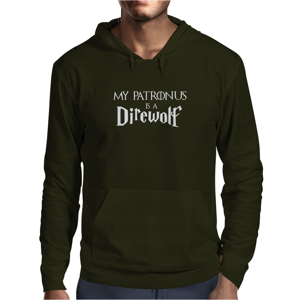 Harry Potter Game of thrones Patronus Direwolf Mens Hoodie