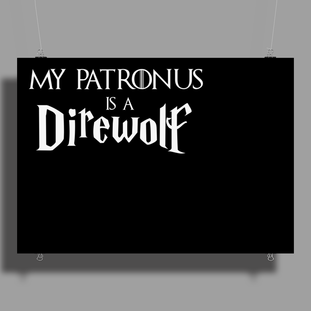 Harry Potter Game of thrones Patronus Direwolf Poster Print (Landscape)
