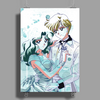Haruka and Michiru Watercolor Poster Print (Portrait)