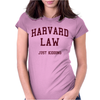 Harvard Law Just Kidding - funny Womens Fitted T-Shirt