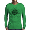 Hatched spiral Mens Long Sleeve T-Shirt