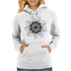 Hatched spiral Womens Hoodie