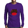 Havana Brown with a ball of Yarn Mens Long Sleeve T-Shirt