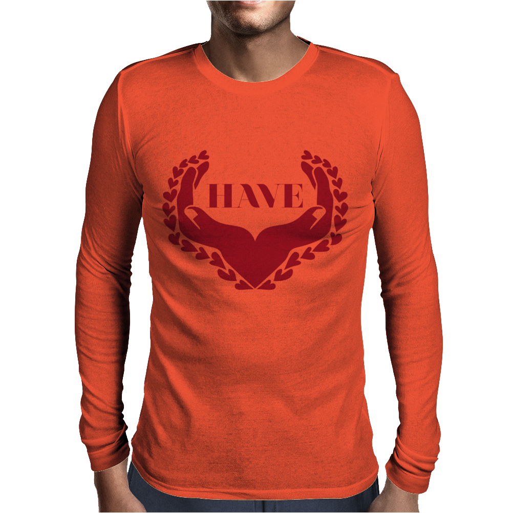 Have Heart Mens Long Sleeve T-Shirt