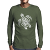 Hawaiian Turtle Tribal Art Mens Long Sleeve T-Shirt