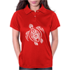 Hawaiian Turtle Tribal Art Womens Polo