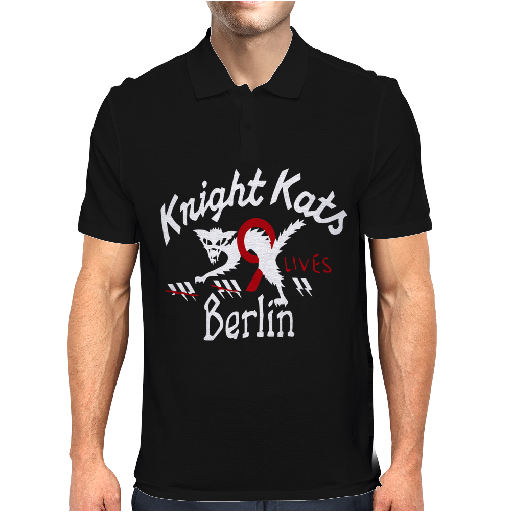 He Knight Kats Berlin 9 Lives Beige Johnson Motors Mens Polo