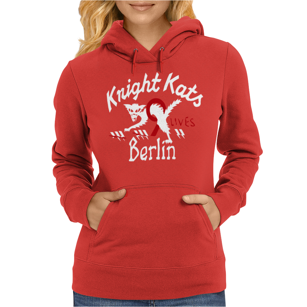 He Knight Kats Berlin 9 Lives Beige Johnson Motors Womens Hoodie