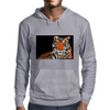 He Roars -  Tiger Watercolor Print Mens Hoodie