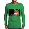 He Roars -  Tiger Watercolor Print Mens Long Sleeve T-Shirt