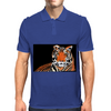 He Roars -  Tiger Watercolor Print Mens Polo