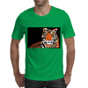 He Roars -  Tiger Watercolor Print Mens T-Shirt