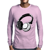 HEADPHONES BLACK Humor Mens Long Sleeve T-Shirt