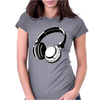 HEADPHONES BLACK Humor Womens Fitted T-Shirt