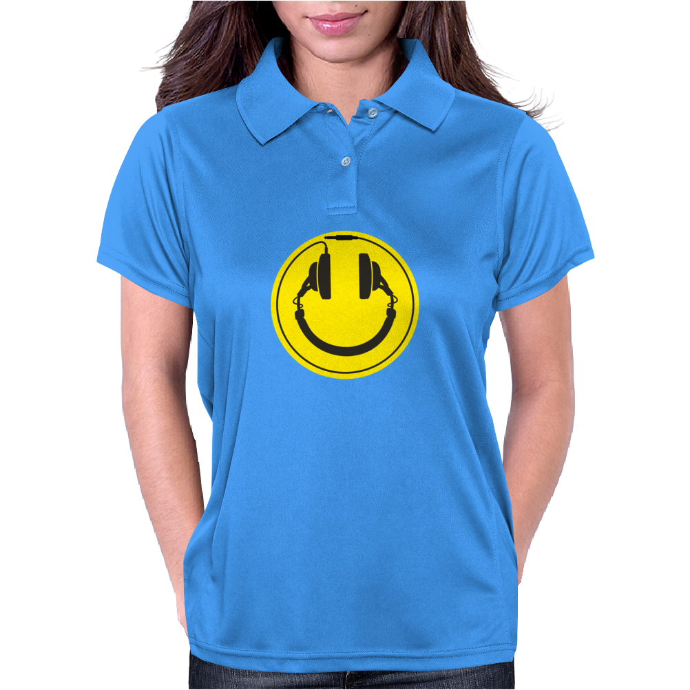 Headphones smiley wire plug Womens Polo