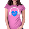 Heart Beat Womens Fitted T-Shirt
