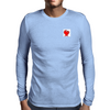 Heart Notes Mens Long Sleeve T-Shirt