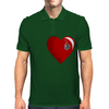 Heart Shot Mens Polo