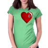 Heart Shot Womens Fitted T-Shirt