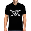Heart Skull Teeth Mens Polo
