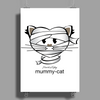 HeartKitty Mummy-Cat Poster Print (Portrait)