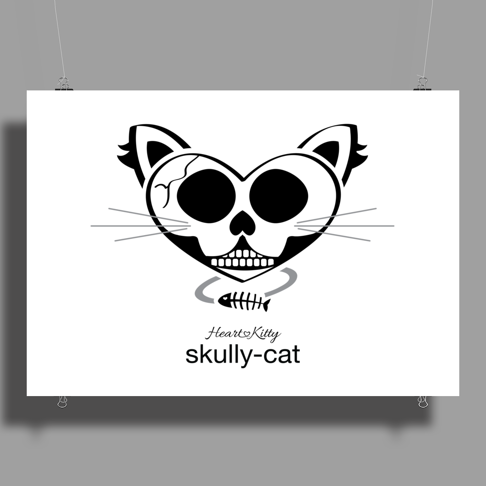 HeartKitty Skully-Cat Poster Print (Landscape)