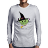 HeartKitty Witchy-Cat Mens Long Sleeve T-Shirt