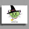 HeartKitty Witchy-Cat Poster Print (Landscape)