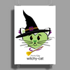 HeartKitty Witchy-Cat Poster Print (Portrait)