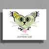 HeartKitty Zombie-Cat Poster Print (Landscape)