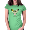 HeartKitty Zombie-Cat Womens Fitted T-Shirt