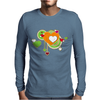 hearts love grunge style green orange Mens Long Sleeve T-Shirt