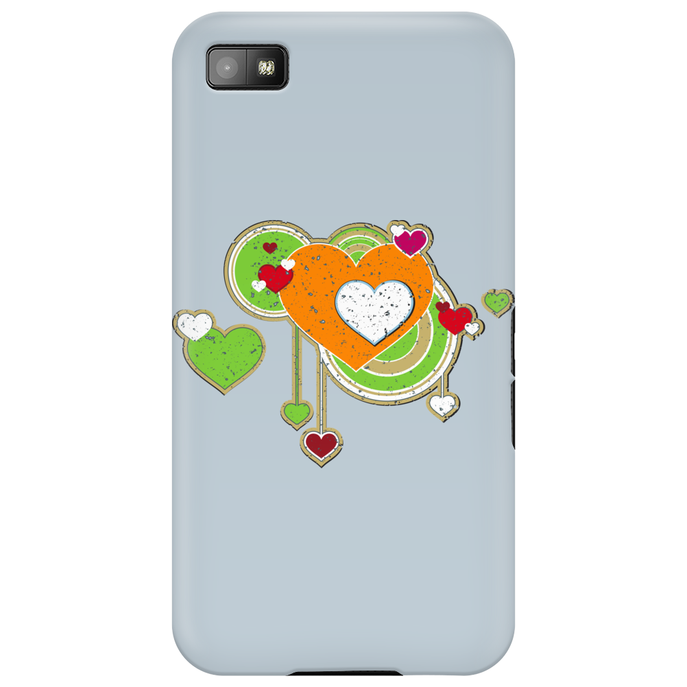 hearts love grunge style green orange Phone Case