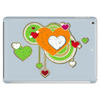 hearts love grunge style green orange Tablet
