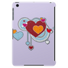 hearts love grunge style light blue red Tablet