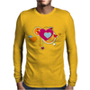 hearts love grunge style orange pink Mens Long Sleeve T-Shirt