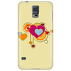 hearts love grunge style orange pink Phone Case