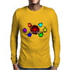 hearts Mens Long Sleeve T-Shirt